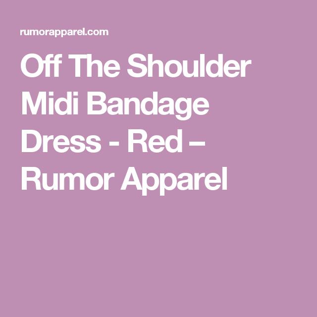 Off The Shoulder Midi Bandage Dress - Red – Rumor Apparel