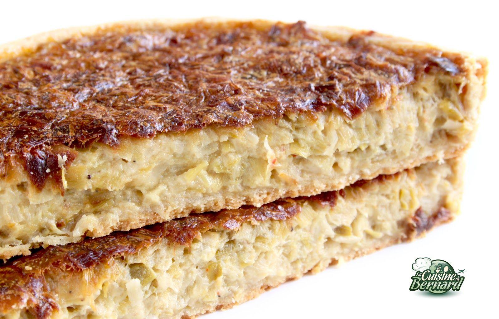 la cuisine de bernard : tarte aux poireaux (note pat : fait avec