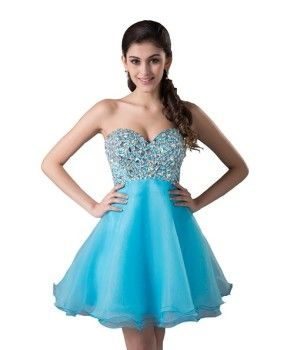 cute corset beaded short cheap prom dresses under 60 dollars ...