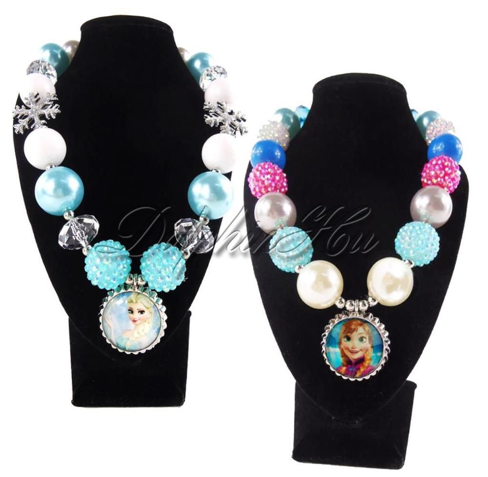 Cute snow candy beads chunky bubblegum gumball kids girls necklace