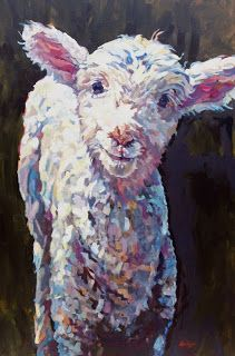 """""""Lilly"""" ~ by Colourful Contemporary Animal Artist ~ Patricia A. Griffin"""