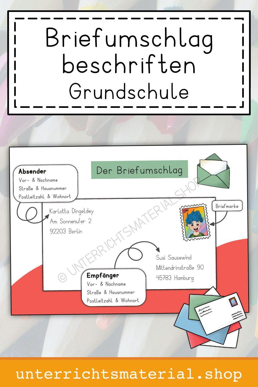 Briefumschlag Beschriften Grundschule   Grundschule ...