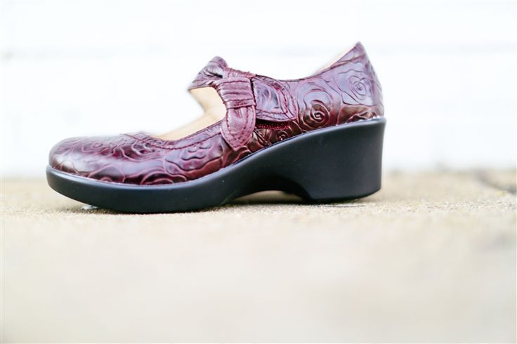 Alegria Shoes Ella in 'Wine Rosette' from Alegria Shoe Shop - now on Closeout