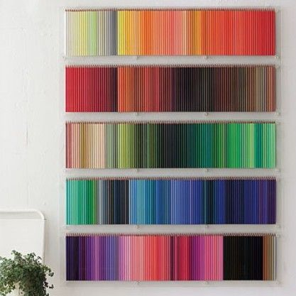 Decorating with coloured pencils