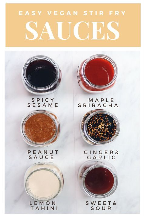 6 Vegan Stir-Fry Sauces #healthystirfry