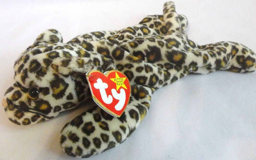3290890f325 Ty Beanie Babies Freckles Cheetah Leopard Baby Stuffed Animal Toy New w Tag   Ty