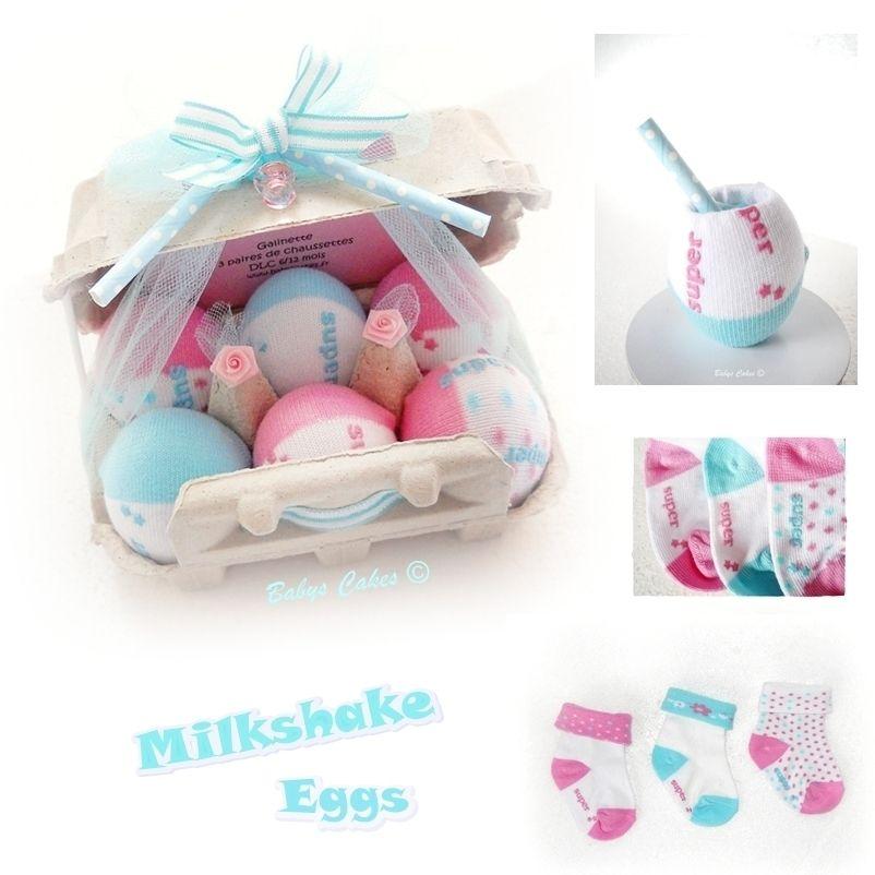 6954e3bc141 Oeufs chaussettes bébé Milkshake eggs