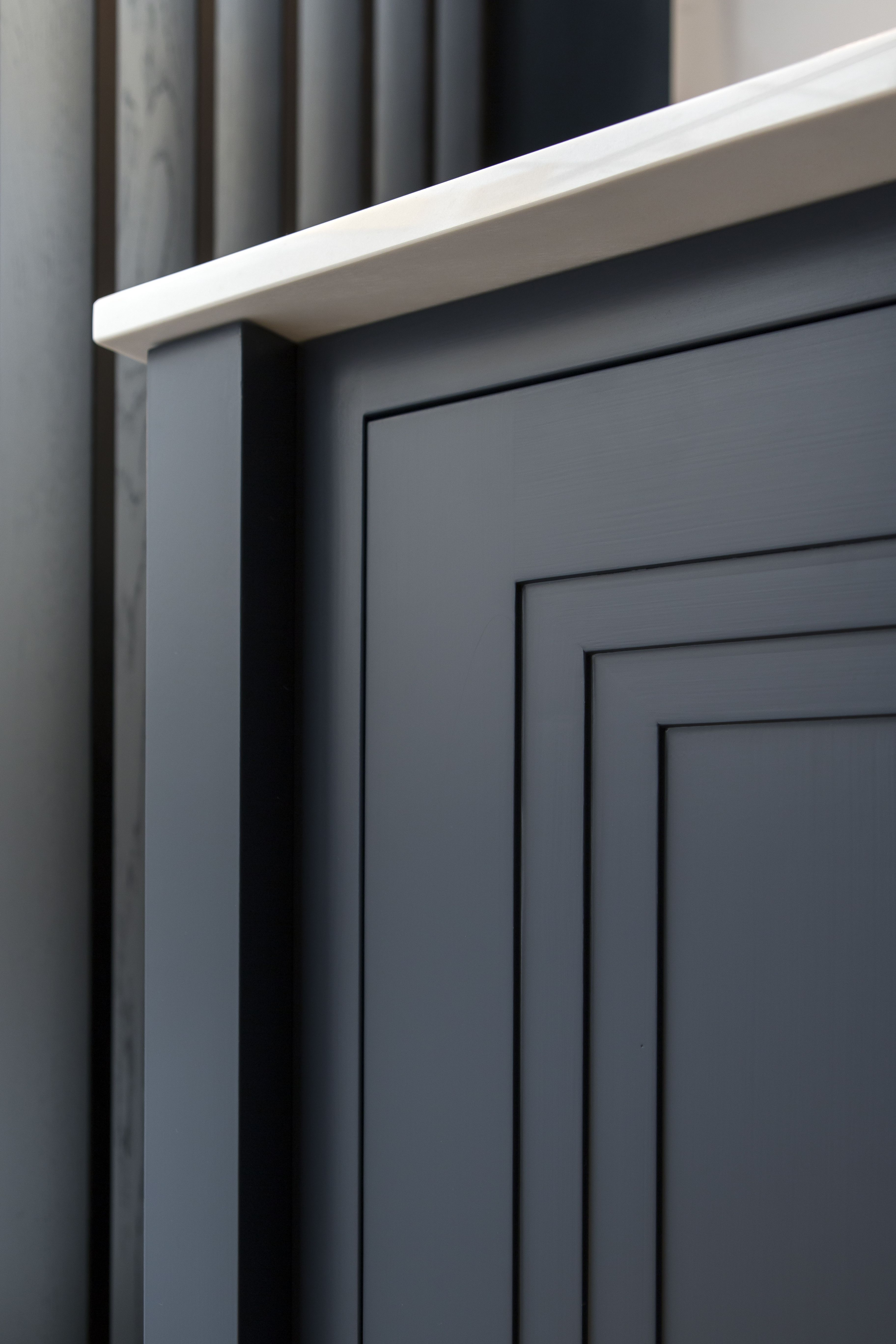 Unique Double Stepped Shaker Door Painted In Little