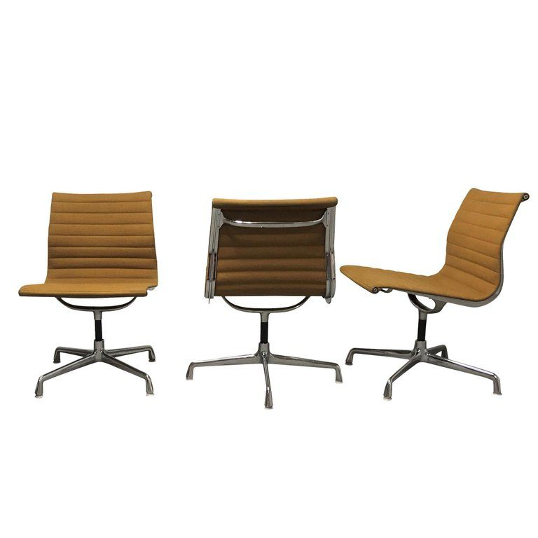 Vintage Eames Desk Chair Ea108 For Herman Miller, Yellow ...