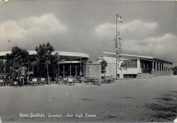 Lido degli Estensi, stabilimenti balneari (1957). Luoghi