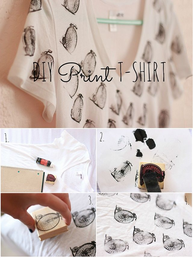 Make Your Own Stamp Print Tshirt Design Shirt designs Diy