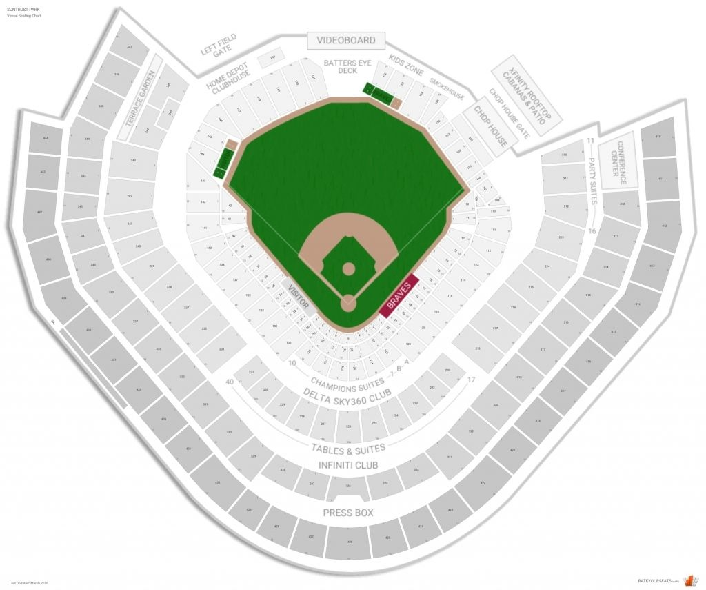 Atlanta Braves Seating Guide Suntrust Park Rateyourseats With Suntrust Park Seating Chart View Suntrustparkseatingchartview 2020 Atlanta Braves Atlanta