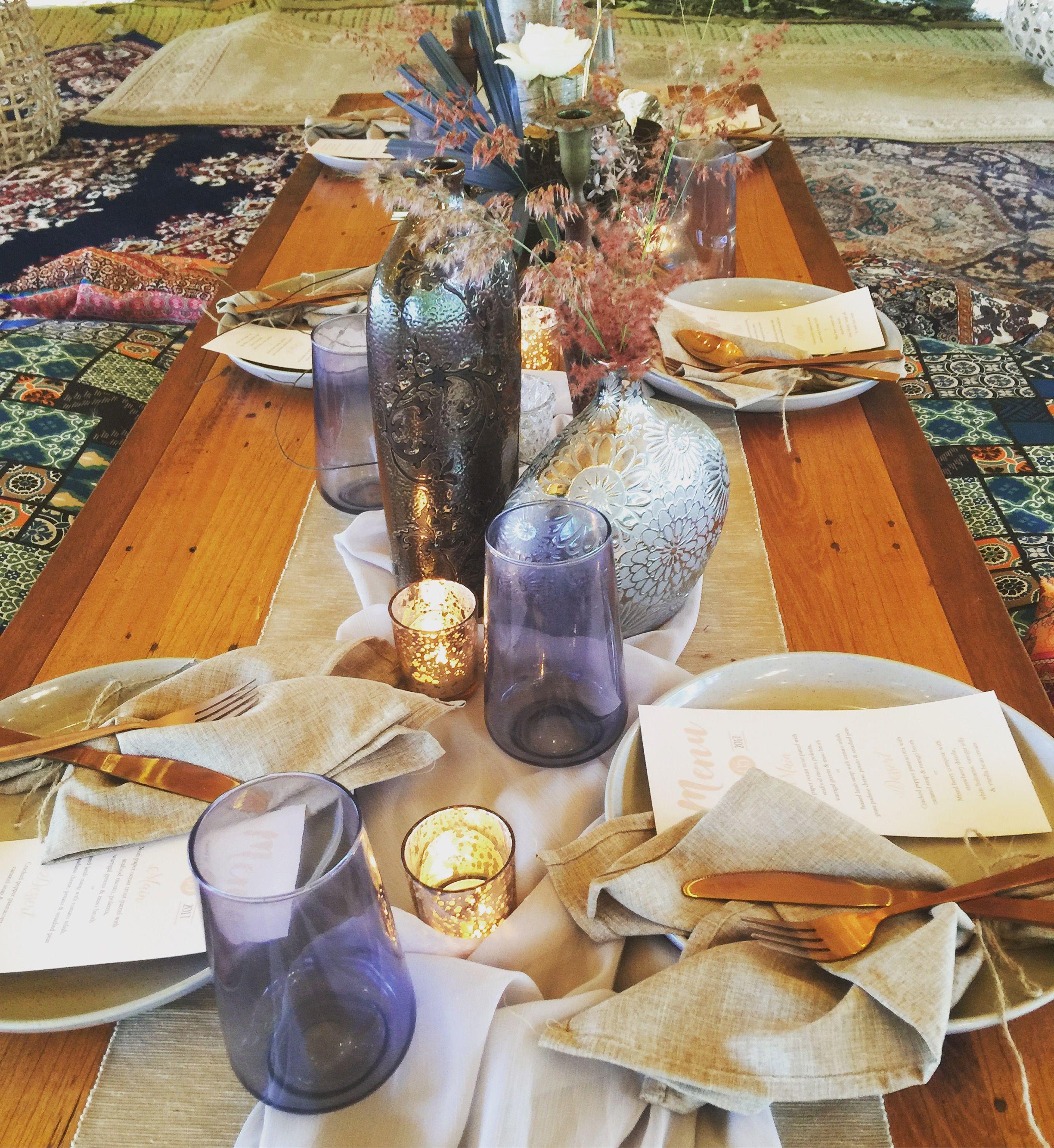 Boho Wedding Reception Styling Picnic Wedding Reception Styling