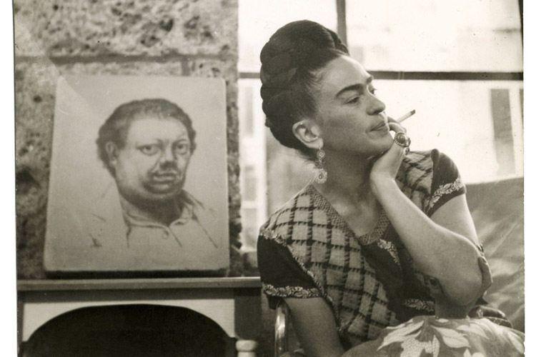 Frida Kahlo Life Smoking Portrait