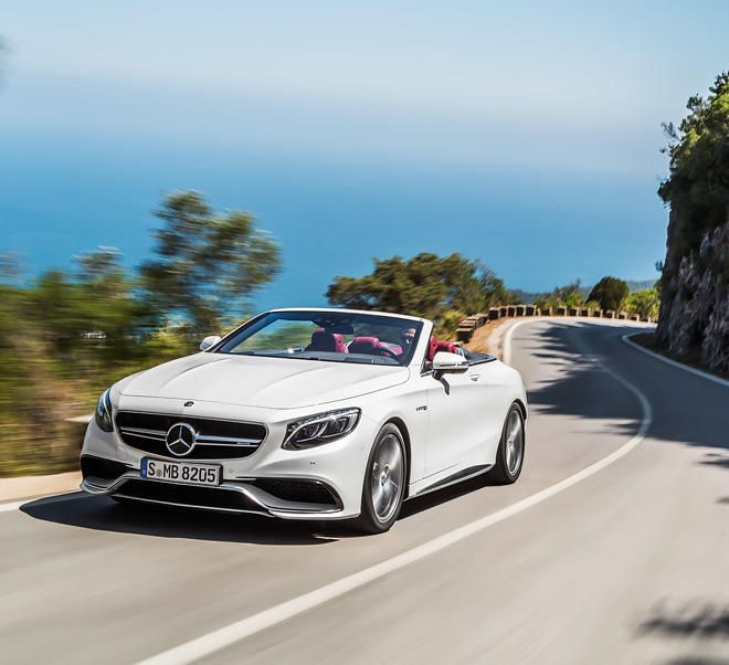 The Mercedes-AMG S 63 4MATIC Cabriolet.