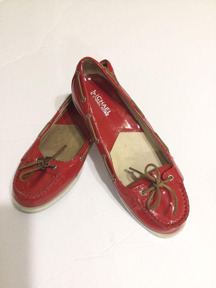 43ec389b2c5 Michael Kors Red Flat Women Shoes Size 8 Used