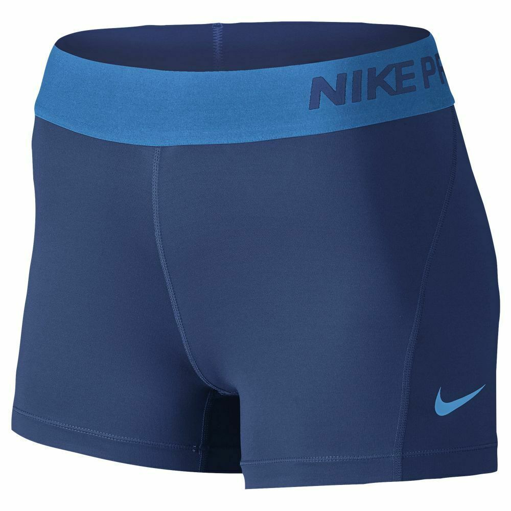 New Nike Pro Cool M Womens 3 0 Compression Shorts Blue 849989 457 887226690440 Ebay Workout Clothes Nike Nike Pro Spandex Nike Spandex Shorts