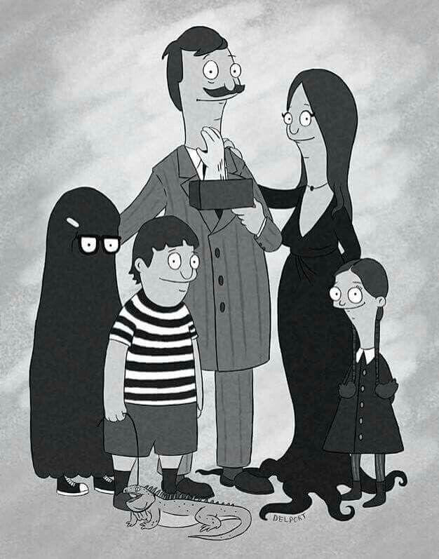 Bob's Burgers + Addams Family