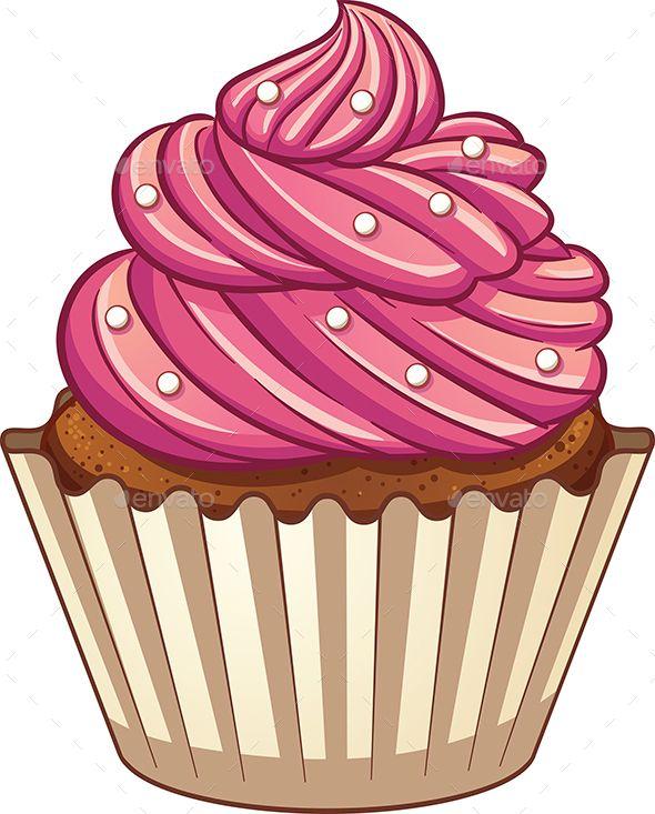 Cartoon Cupcake Cartoon Cupcakes Cupcake Vector Cute Cupcake Drawing
