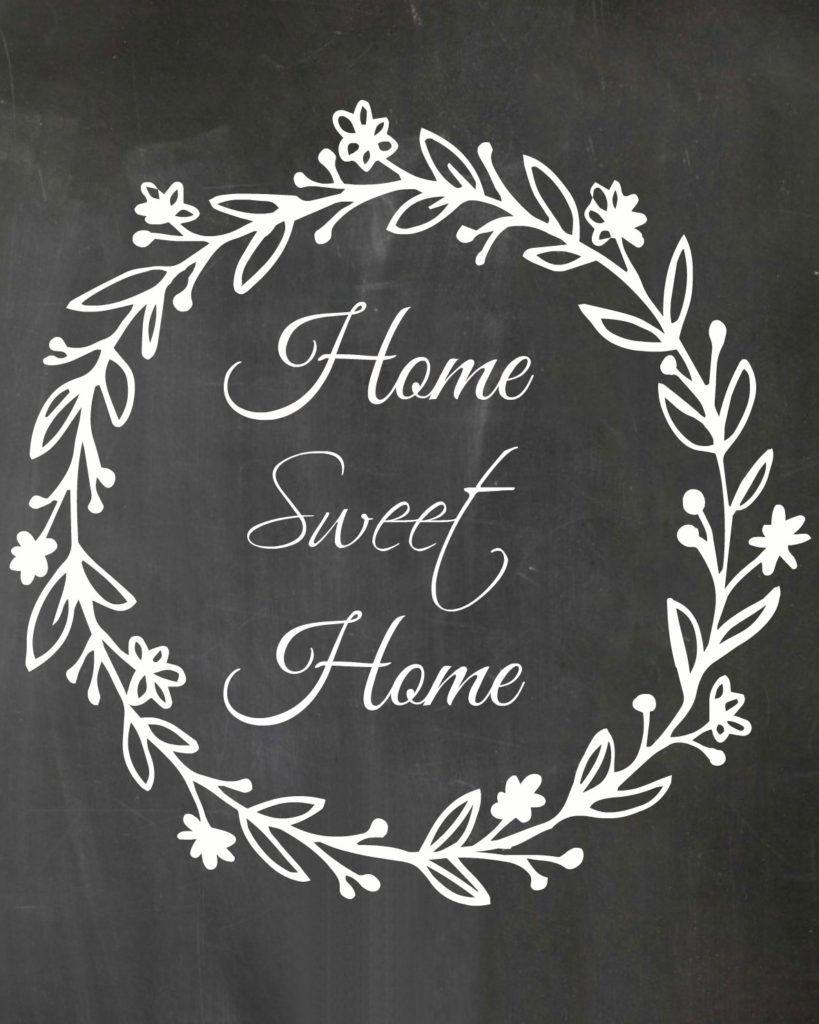 Free Printable - Home Sweet Home