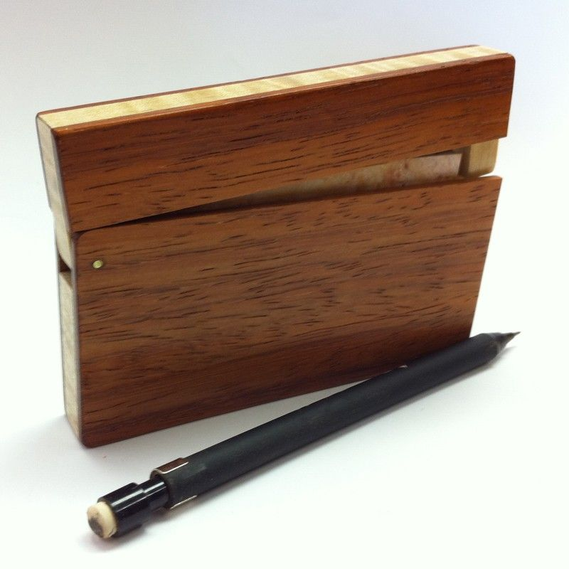 wood business card holder $39.00 | Working | Pinterest | Wood ...