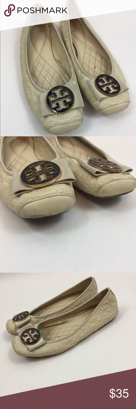 ced53d76d83f Tory Burch Flats Color  light cream Size  41 (10 women s) Good used  condition Tory Burch Shoes Flats   Loafers