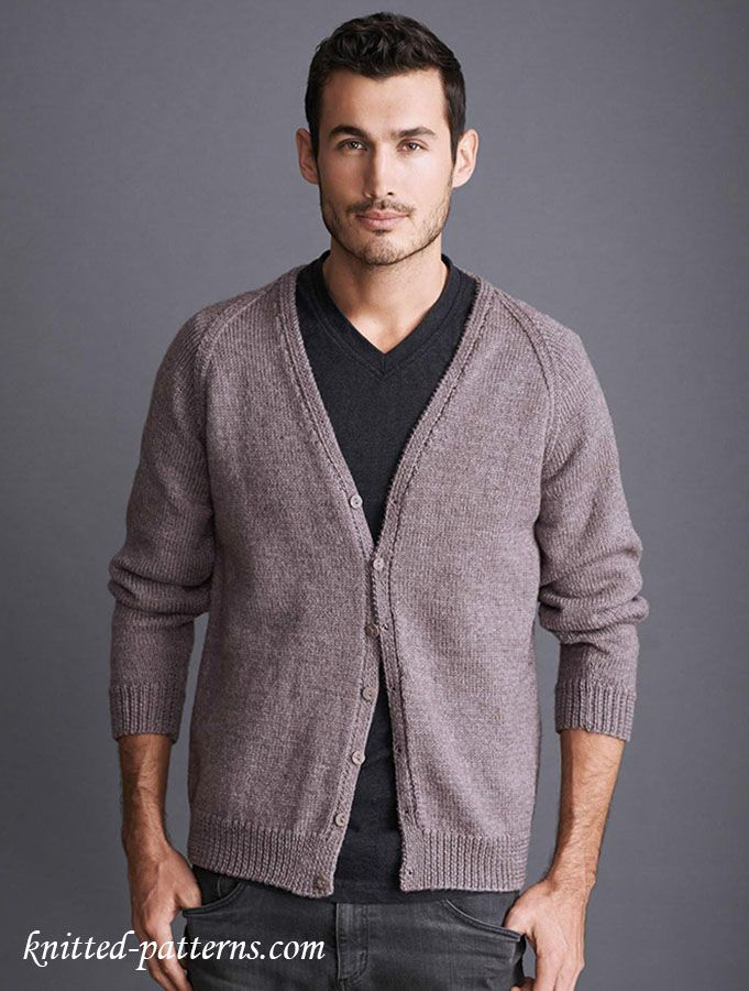 Cardigan knitting pattern free | HEP KAT - MEN\'S FASHION | Pinterest ...
