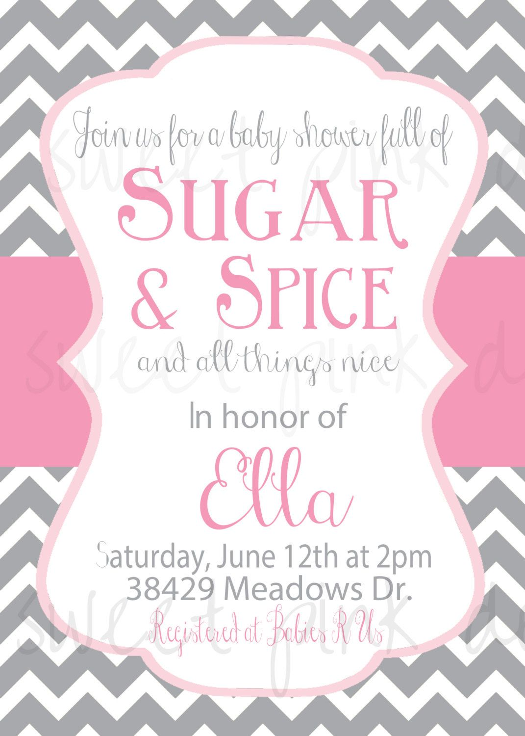 Free Sugar and Spice Baby Shower Invitations | FREE Baby Shower ...