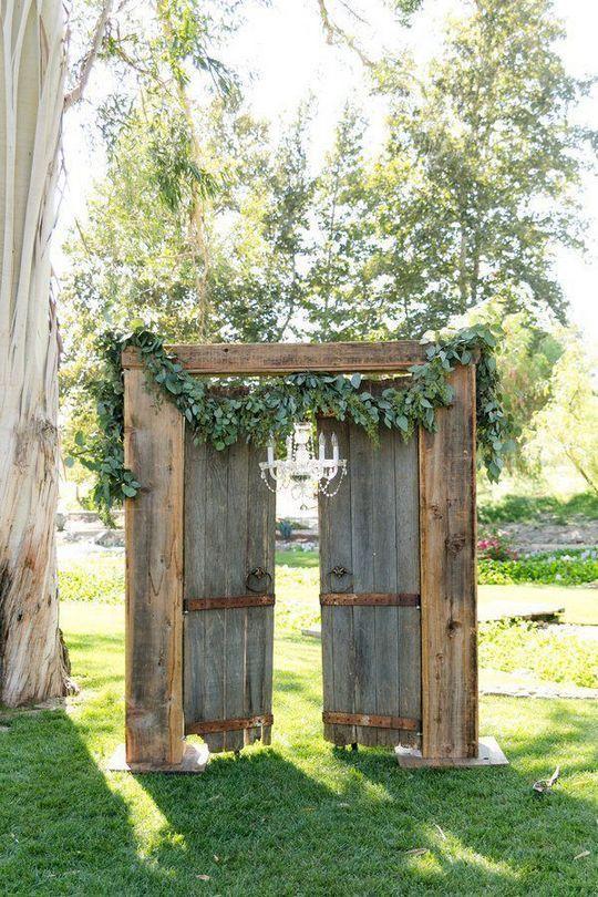 Más de 45 ideas rústicas de decoración de bodas