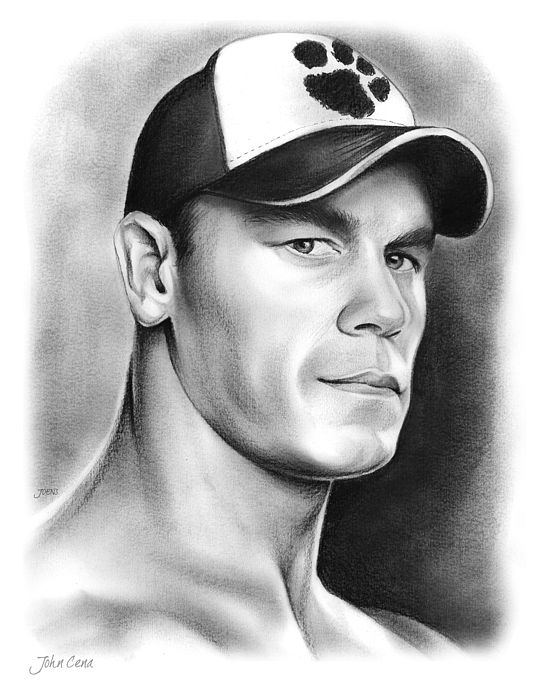 John Cena Pencil Sketch | Celebrity Fan Art | Pinterest | John cena ...