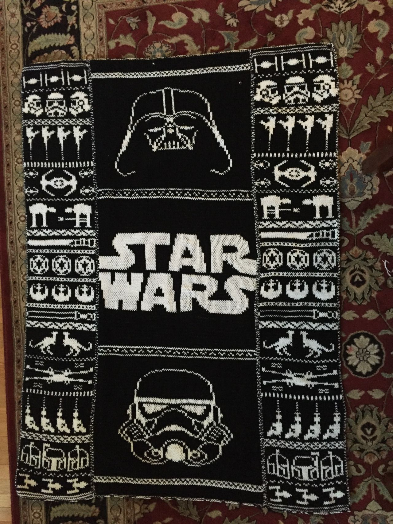 Super Cool Star Wars Blanket I Saw On Tumblr The Patterns Are