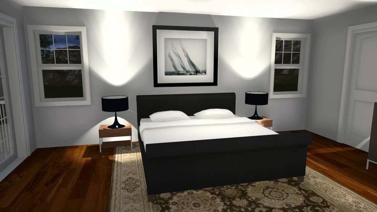 Lumion sample rendering of a bedroom model created in for Model bedroom interior design