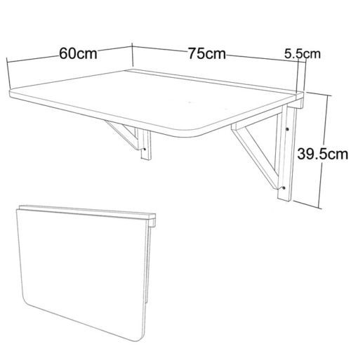 Dettagli su SoBuy ® tavolini muro, tavolo muro, tavolo cucina ...