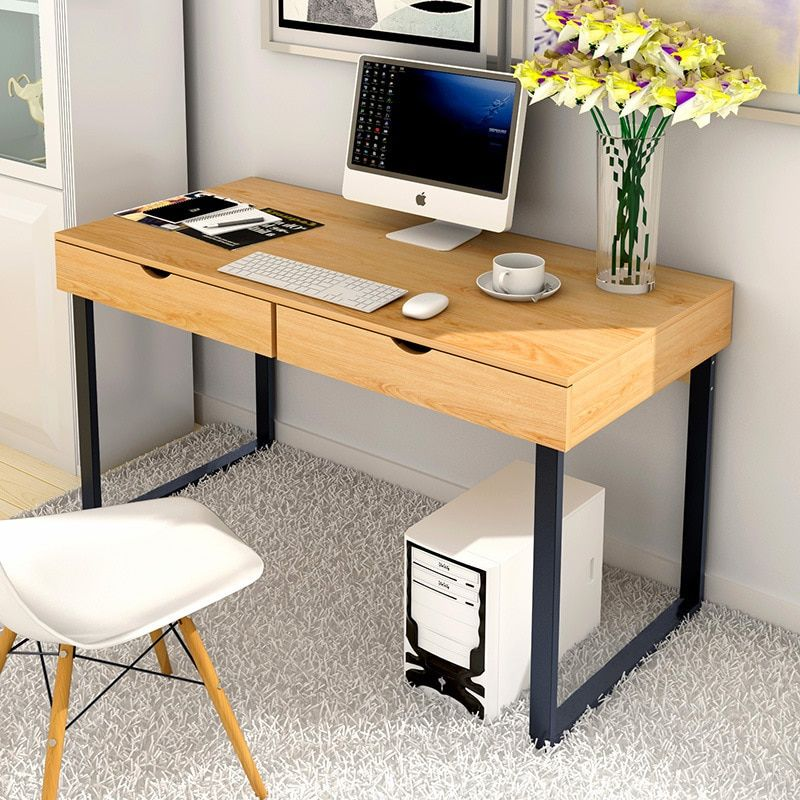 Cheap Laptop Desks Buy Directly From China Suppliers Lk1657 Home Desktop Pc Table With 2 Drawers Simple Creative Compu Home Office Desks Computer Desk Pc Desk