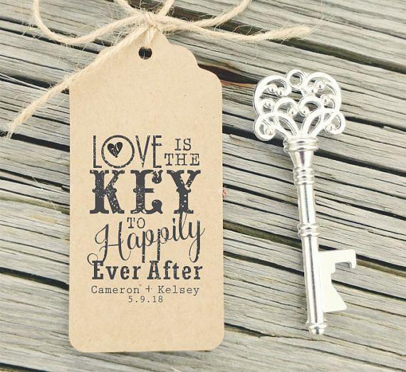 Rubber Stamp For Key Bottle Opener Favors Love Is The Key Etsy Key Wedding Favors Bottle Opener Favors Keys Wedding