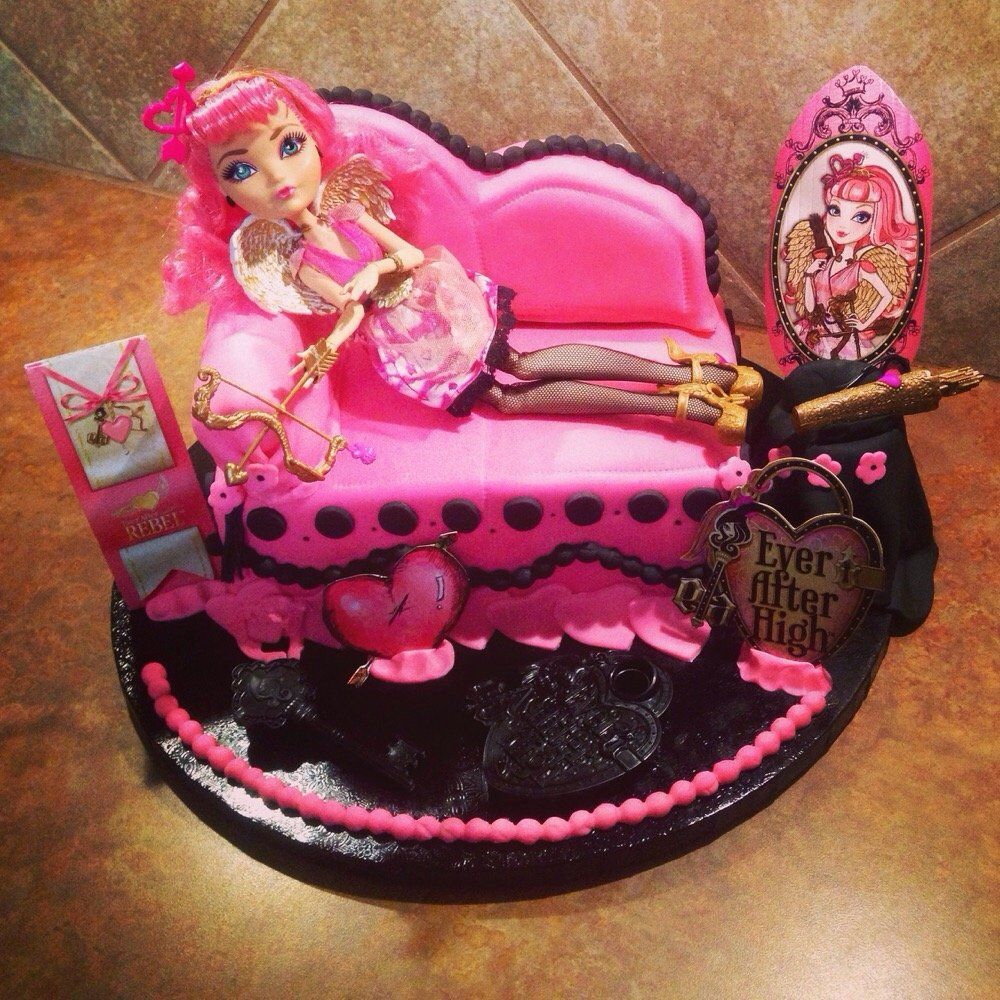 Endlesley Sweet Ever After High Cake Pink And Purple Inside Stuffed With Rainbow