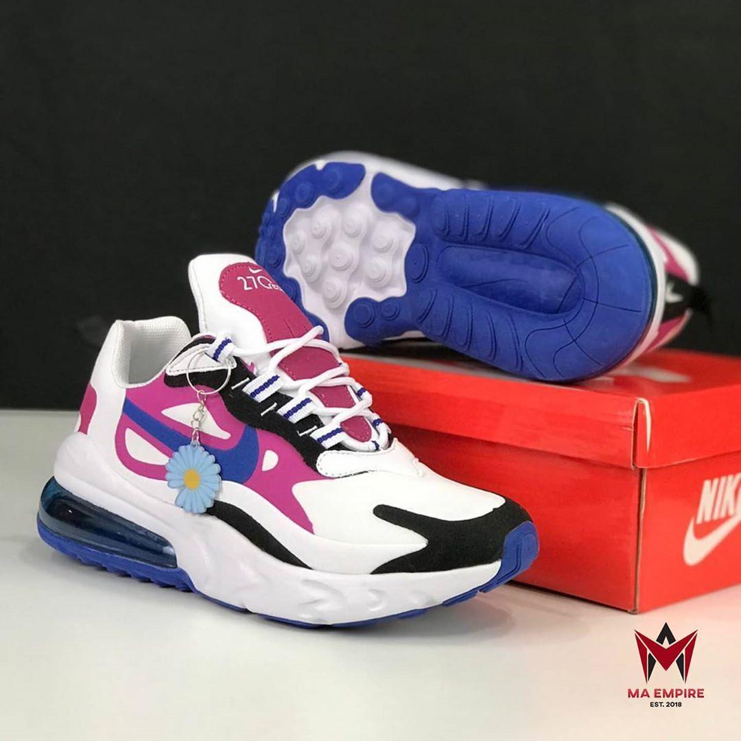 Kasut Viral Premium Gred 5a Nike Air Max 270 React V4 Cosmic Fuchsia Full Set Free Gift Size 37 41 In 2020 Jordans Sneakers Air Jordan Sneaker Nike