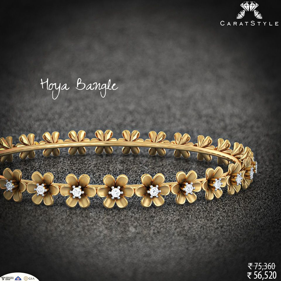 Elegance is not standing out but being remembered diamond bangle