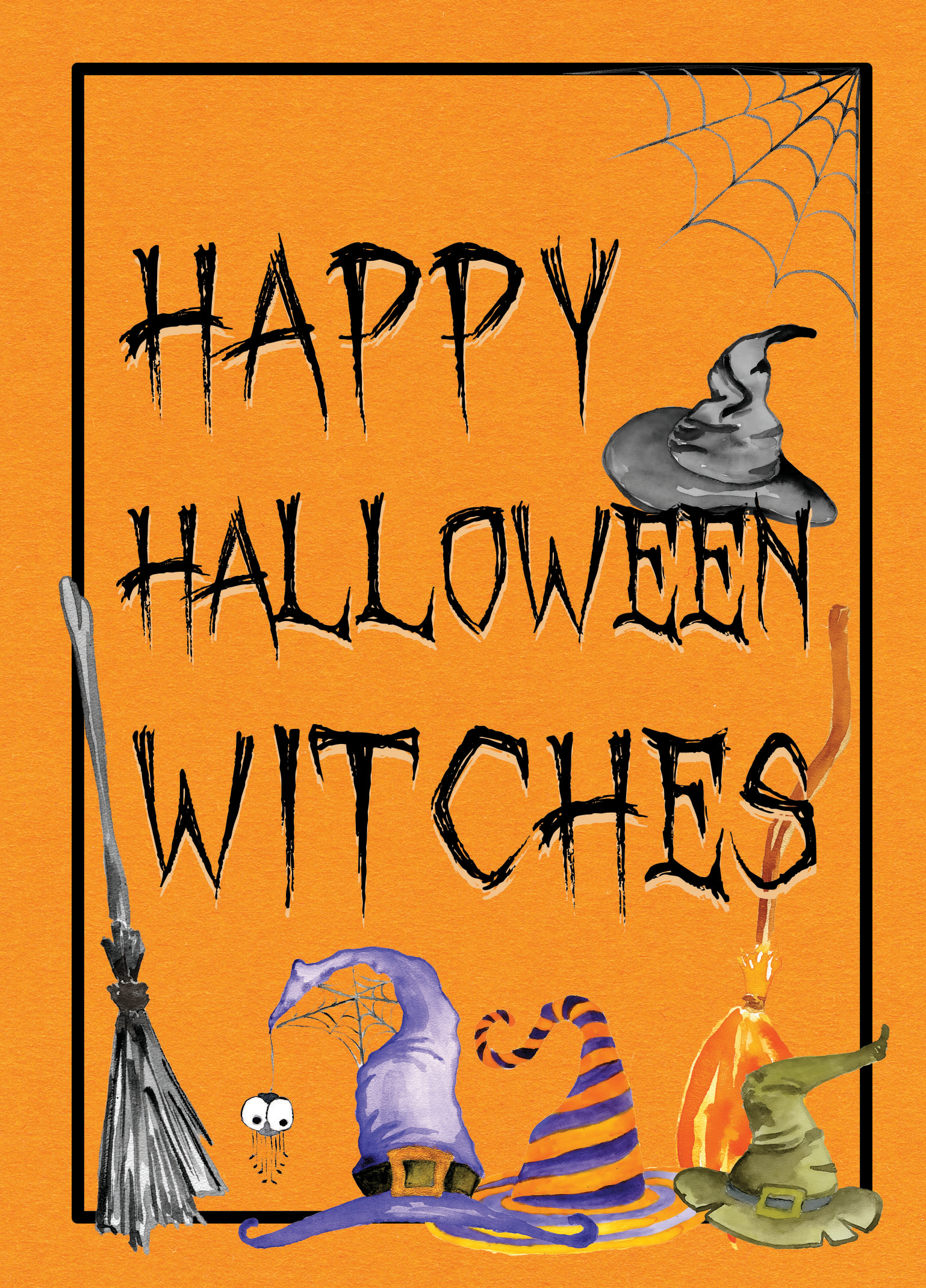 happy halloween witches instant download hi res printable print this digital download and
