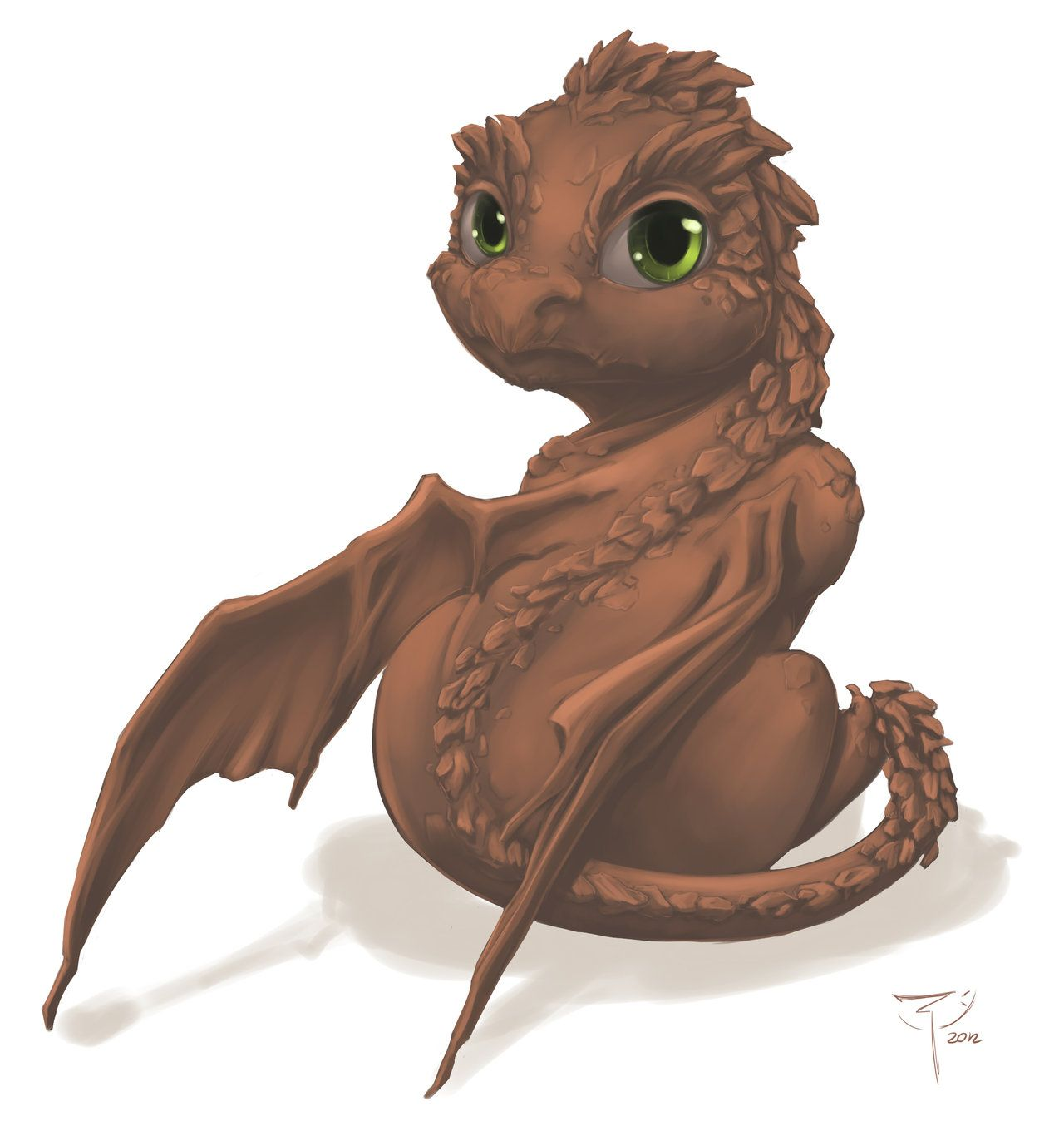Earth Dragon Baby By =crimson-nemesis