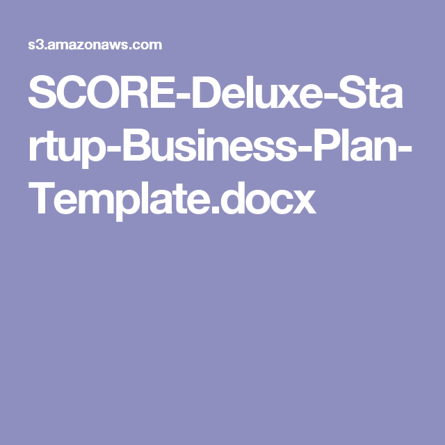 Score Deluxe Startup Business Plan Templatecx Xtreme Weddings