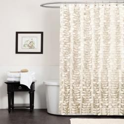 Ivory Georgia Shower Curtain By Lush Décor