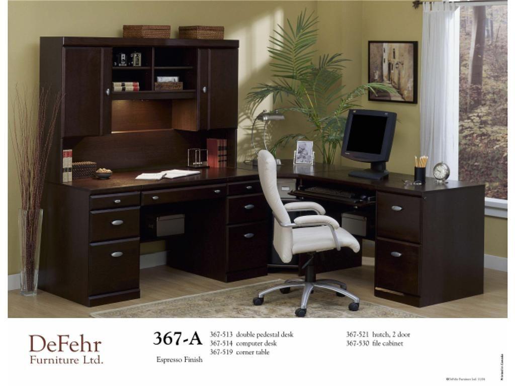 Defehr Furniture Home Office Double Pedestal Desk 367 513   Sims Furniture  LTD   Red