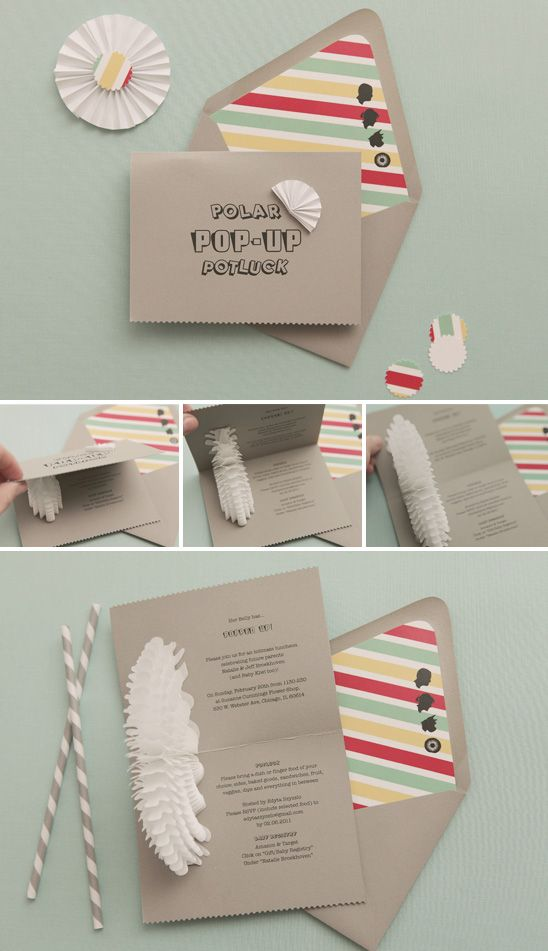 Baby Shower Invite With A Pop Up Element Inside