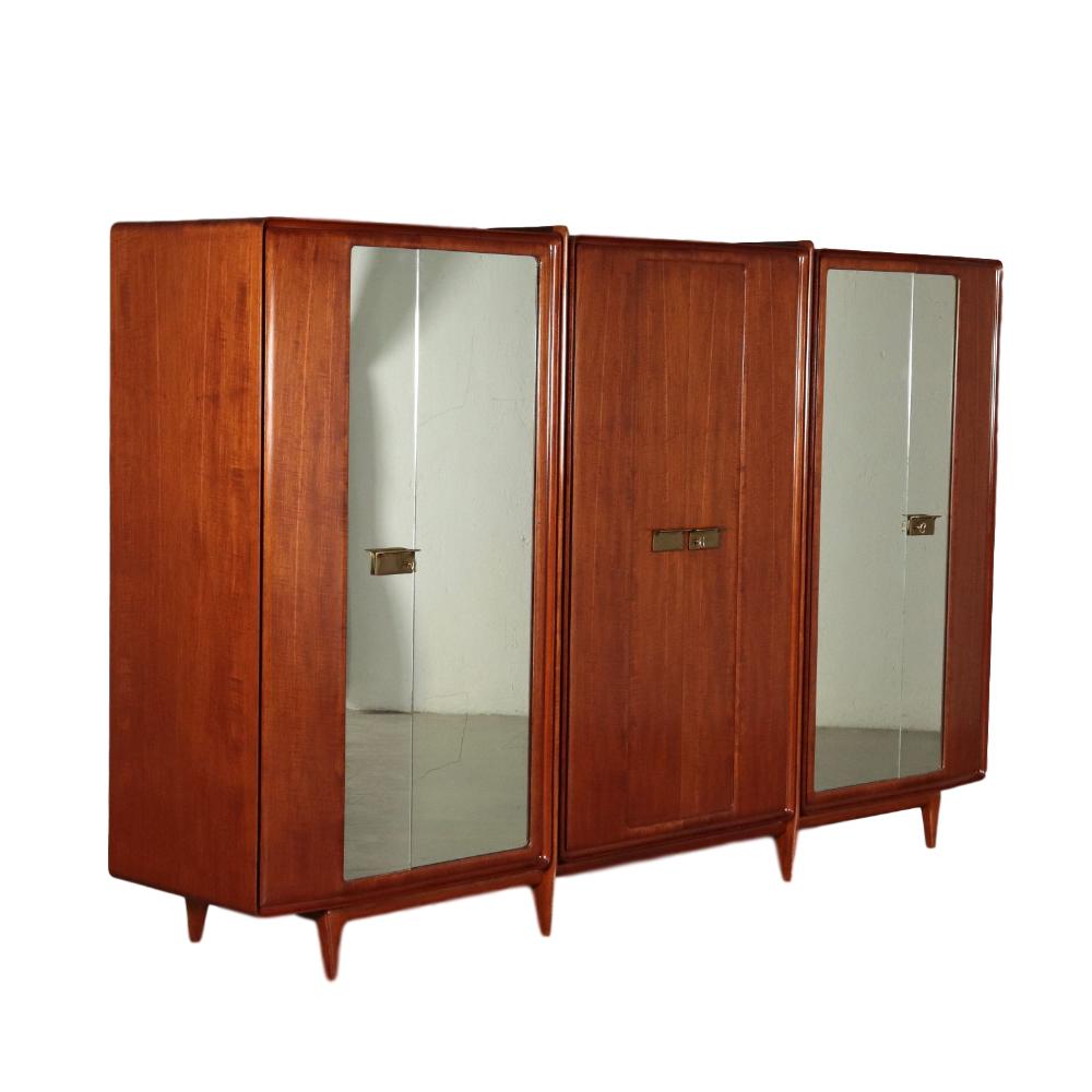 Mobile armadio ad ante battenti; legno impiallacciato