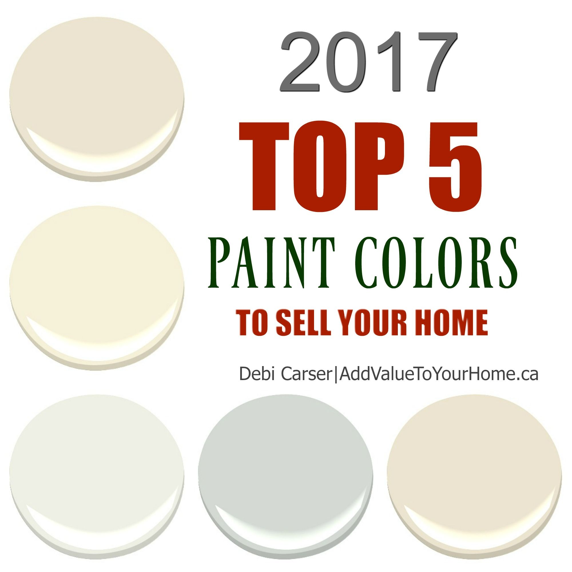 2017 top 5 paint colors to sell your home. find out what colors