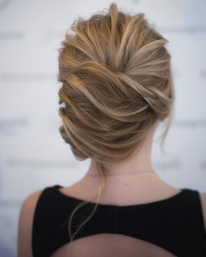 Beautiful Wedding Hairstyle For Long Hair Perfect For Any: This Chic French Twist Updo Hairstyle Perfect For Any