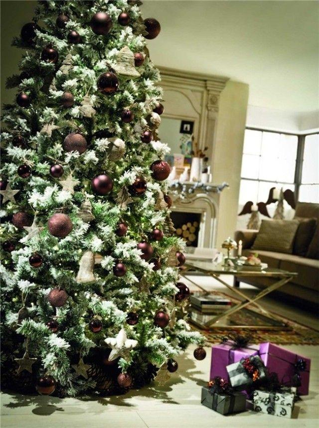 Tendencias de color para los rboles de Navidad 2015 estilo