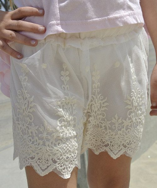 Love this Ivory Lace Shorts - Toddler by Knuckleheads on #zulily! #zulilyfinds
