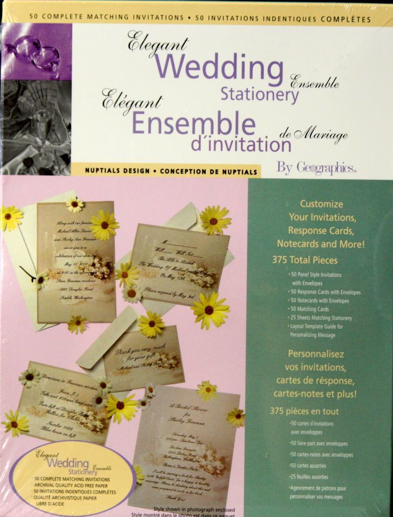 Elegant Wedding Stationery Ensemble is available at Scrapbookfare.